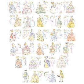 クロスステッチ図案 Le grand ABC Marie-Antoinette (マリーアントワネット アルファベット)