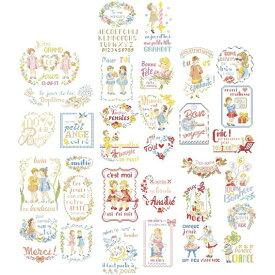 クロスステッチ図案 La grande histoire des messages brodes(メッセージ刺繍 33のモチーフ)