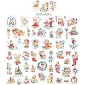 クロスステッチ図案 La grande histoire de Noel Vintage N°3 (クリスマス ヴィンテージ 54のモチーフ)