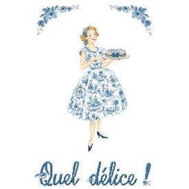 クロススッチ図案 Grille Quel delice (なんて大喜び)