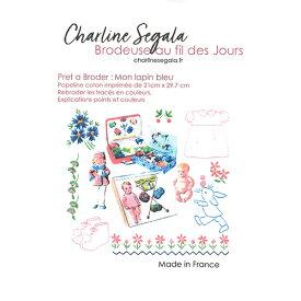 《最新作》フランス Charline Segala 刺繍キット 私の青いうさぎ