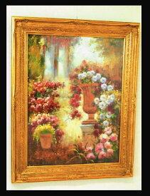 額縁 油絵 絵額/絵画/壁掛 【庭園のバラ】100×125 10P27May16