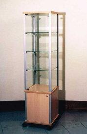 【イタリア製】ガラスショーケース キャスター付き(H171) 10P27May16
