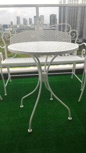 アイアンガーデンテーブル ホワイト ガーデン用品 10P27May16