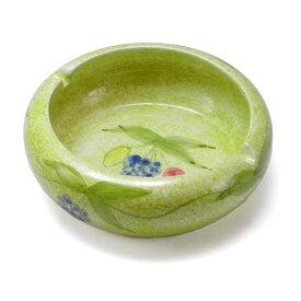 ポルトガル製 おしゃれ 灰皿 陶器製 グリーン