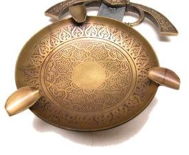スペイン製メタル灰皿ゴールドゼルダ