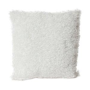 クッションカバー 45X45cm 正方形 ホワイト プードルファー