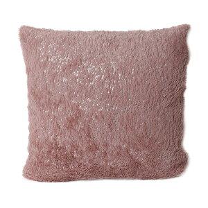 クッションカバー 45X45cm 正方形 ピンク ラメ
