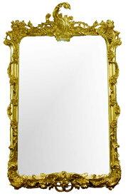 【送料無料】ゴールド壁掛けミラー【-壁掛けミラー(立体装飾)-】アンティーク,シャビーシックな壁掛け鏡