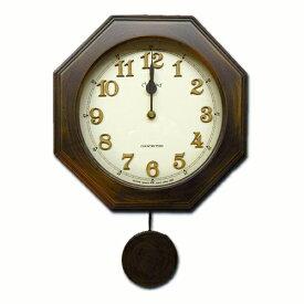 さんてる 電波振り子時計 ステップ秒針モデル DQL635 振り子時計 時計 壁掛け時計 国産 日本製 天然木材 ウォールクロック レトロ クラシック クラシカル ヨーロピアン アラビア数字 アンティーク 文字 立体 職人 手づくり【新生活】