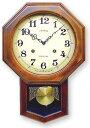さんてる 電波 振り子 ステップ秒針DQL624(八角)振り子時計 時計 壁掛け時計 国産 ウォールクロック 風水時計 柱時…