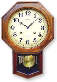 さんてる 電波 振り子 ステップ秒針DQL624(八角)振り子時計 時計 壁掛け時計 国産 ウォールクロック 風水時計 柱時計 レトロ アンティーク 日本製 クラシック クラシカル 大正 明治 ハイカラ 手づくり 時計職人 天然木材 金属 振り子