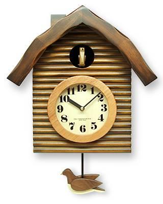 さんてる「ふいご」式 鳩時計 アンティーク/振り子時計 QL650 アナログ式/掛け時計/カッコー はと時計/ギフト/プレゼント/国産 おしゃれ/かわいい/小田原/職人/手づくり/ぽっぽ カッコー時計/時計/丸太小屋/三角屋根/レトロ/クラシック/クラシカル/洋風/スイス風/アルプス風