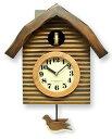 【送料無料】さんてる「ふいご」式 鳩時計 アンティーク/振り子時計 QL650 アナログ式鳩時計/掛け時計/はと時計/ギフト/プレゼント/国産おしゃれ/日本の手...