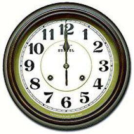 さんてる 電波連続秒針モデル DQL674 丸い壁時計 丸形 壁掛け時計 国産 ウォールクロック ヨーロピアンスタイル クラシカル レトロ アンティーク調 クラシック ハイカラ 大正時代 壁時計 お洒落 大正ロマン 雑貨【新生活】