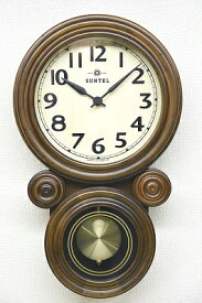 さんてる ミニだるま 電波振り子時計 DQL676 振子時計 柱時計 高級 壁掛け時計 引越祝い 新築祝い 国産 おしゃれ ウォールクロック レトロ アンティーク 職人の手作り ヴィンテージ 電波時計 日本製のお洒落な壁時計 小さめ 分厚い 重厚感 おしゃれなペンデュラムクロック