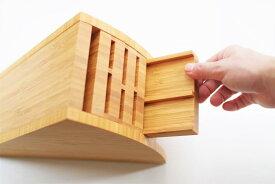 みきかじや村 ナイフスタンド 270mm TS018 日本製 木製 竹 包丁ラック ナイフラック 長い包丁でも収納可能 取り外し 組み換え可能 変形型 包丁ケース 本職 プロ用 和包丁向き 国産天然竹材の抗菌力が生きる、シャープでおしゃれな和包丁スタンドです