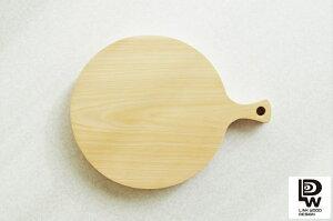 媛ひのき 丸いカッティングボード LINK WOOD DESIGN 手作り 木製 まな板 桧 天然木 ヒノキ 一枚板 無垢 防臭 抗菌 円形 丸 まるい 重い 大きい 純国産 分厚い ウッド 調理器具 取っ手付き 握り チ