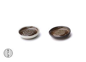 もとしげ おろし器 陶器 小 10cm 元重製陶所 しょうがの繊維が残らない そのまま食卓に 卸し器 おしゃれ 白マット/黒 マット 箱入 大根おろし ギフト 石見焼 小皿 おろし器 しょうが わさび