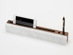Shinabel ラインL (ガジェットスタンド) 350mm / 中山家具 × Colordrop Design /シィナベル 大理石とウォールナットを組み合わせた斬新なデザイン。質感も性質も大きく異なりながら、「高級感」を共