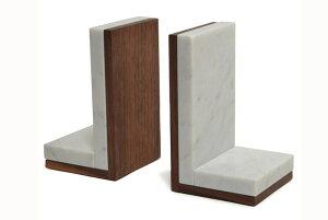 Shinabel ブックエンド(1個)ブックスタンド 中山家具 × Colordrop Design シィナベル 大理石とウォールナットを組み合わせた斬新なデザイン。質感も性質も大きく異なりながら、「高級感」を共