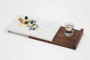 Shinabel - トレイ L/ 中山家具 × Colordrop Design /シィナベル 大理石とウォールナットを組み合わせた斬新なデザイン。質感も性質も大きく異なりながら、「高級感」を共通項に違和感なく融合す