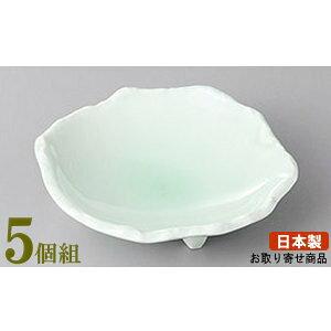 小付 5個組 日本製 ヒワ青磁丸小付 5個 業務用 和食器 食器 陶器 小さい小鉢 小さめのお皿 高級感 上品 電子レンジ可能 食器洗浄機可能 レンジ対応 家庭用 普段使い お客様用 おつまみ お通し