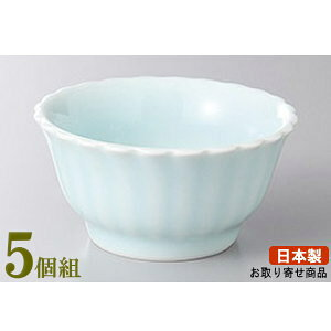 小付 5個組 日本製 青白磁菊型小付 5個 業務用 和食器 食器 陶器 小さい小鉢 小さめのお皿 高級感 上品 電子レンジ可能 食器洗浄機可能 レンジ対応 家庭用 普段使い お客様用 おつまみ お通し