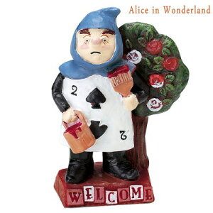 【 ガーデンオーナメント 】 Alice in Wonderland トランプ兵 小 ウェルカムボード仕様 【ディズニー/キャラクター/不思議の国のアリス/庭/置物/玄関周り/屋外/屋内/インテリア/かわいい/大人っぽ