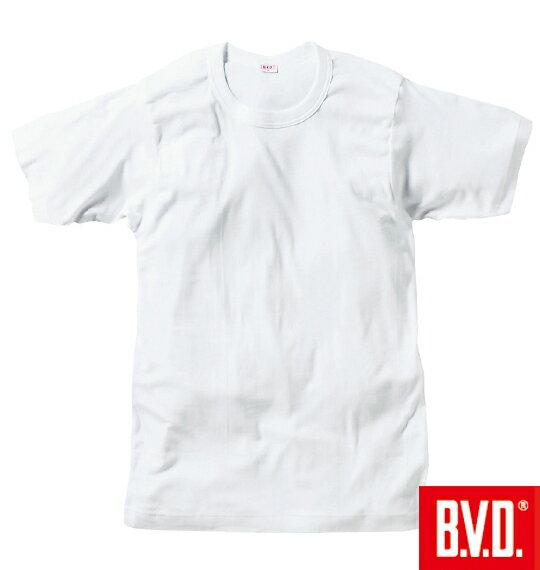 ■大きいサイズ LL 2L 3L 4L 5L 6L XL !B.V.D.丸首Tシャツ(半袖)[▽]