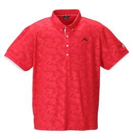大きいサイズ メンズ RUSTY GOLFカモフラエンボス半袖ポロシャツ キングサイズ 3L/4L/5L/6L