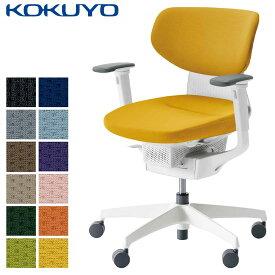 コクヨ デスクチェア オフィスチェア 椅子 ing イング CR-GW3211E1 クッションタイプ ラテラルタイプ 可動肘 ホワイトシェル ホワイト樹脂脚 -v フローリング用キャスター