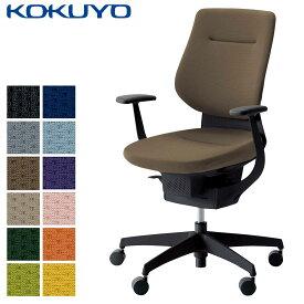 コクヨ デスクチェア オフィスチェア 椅子 ing イング CR-G3203E6 クッションタイプ バーチカルタイプ T型肘 ブラックシェル ブラック樹脂脚 -w カーペット用キャスター