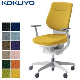 コクヨ デスクチェア オフィスチェア 椅子 ing イング CR-GW3203E1 クッションタイプ バーチカルタイプ T型肘 ホワイトシェル ホワイト樹脂脚 -v フローリング用キャスター