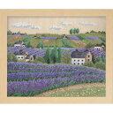 【オリムパスOLYMPUS】刺しゅうキット 7311フラワーガーデン「花の咲く風景」「オノエ・メグミ」ラベンダー畑【取寄…