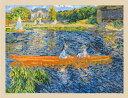 【DMC】刺しゅうキット BL1068-71The National Gallery 「ルノワール 小舟」◆◆【C3-7】U-OK