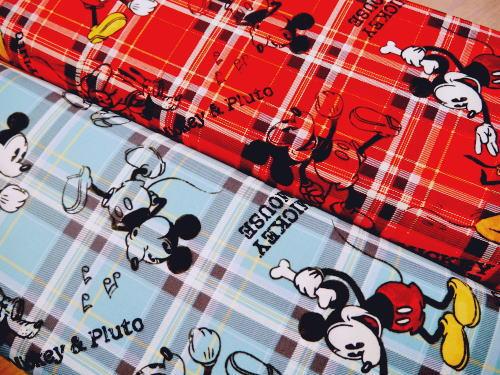 G7056-1【オックス】ミッキーマウス&プルート ◆◆(数量×50cm)【C2-6】U2 M1.5