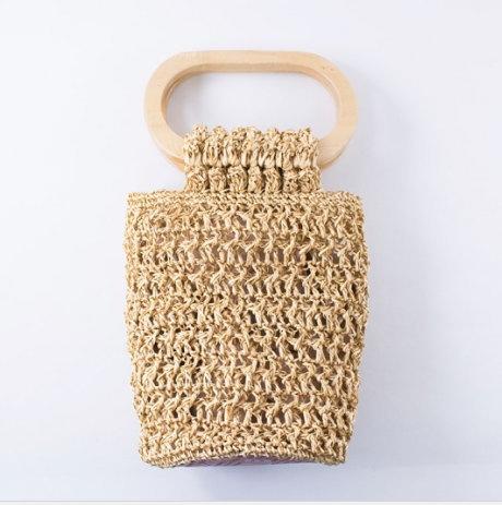 【メルヘンアート】 樹皮もどきで編む オーバル手口のバッグ 3419-クリーム ◆◇ 【取寄せ品】 【C4-11】U-NG
