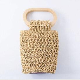 【メルヘンアート】 樹皮もどきで編む オーバル手口のバッグ 3419-クリーム 【取寄せ品】 【C4-11】U-NG