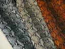 317-1270 ツイル ヘビ柄プリント パイソン柄 ◆◆(数量×50cm)【C2-6】U2