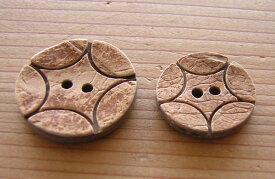 【ボタン】木ボタン W-136 25mm 【C1-1】