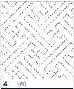 【オリムパスOLYMPUS】刺し子「花ふきん布パック 白」 4 紗綾形(さやがた)【C3-8】U12