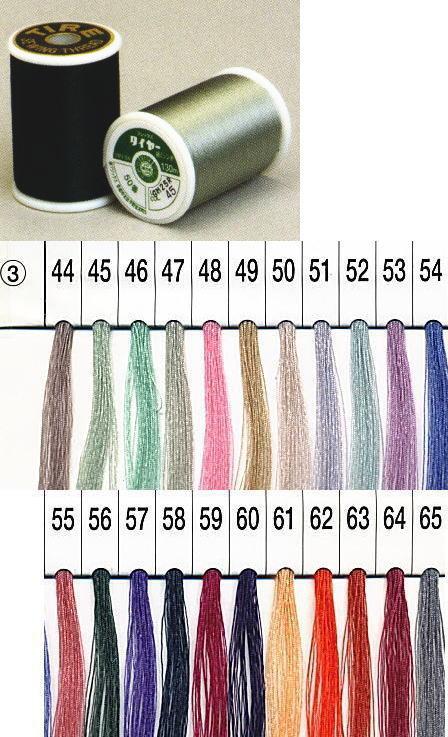 【フジックスFUJIX】タイヤー絹ミシン糸-3 50番 130m【C1-2】U-OK M-NG