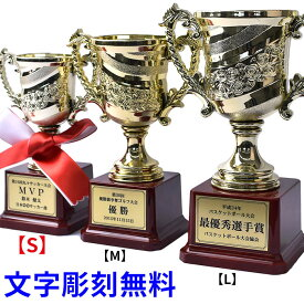 トロフィー 優勝カップ 【文字彫刻無料】 【紅白リボン無料】 ゴールド 金色 ゴルフ サッカー 試合 記念品 コンペ 軽量 Sサイズ t-cup-s