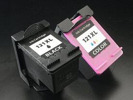 CC641HJ/CC644HJ HP用 HP121XL リサイクルインクカートリッジ 増量 ブラック+カラーセット ブラック&カラー