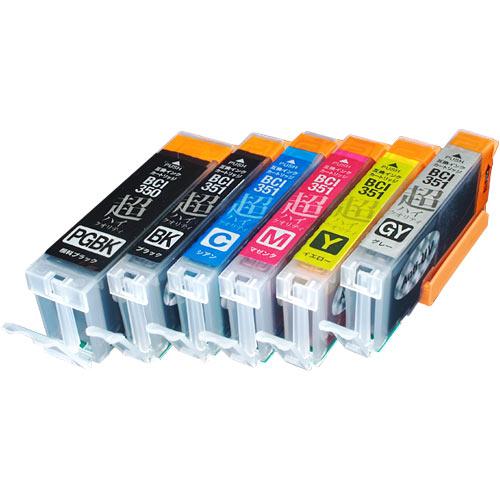 【高品質】キヤノン BCI-351XL+350XL 超ハイクオリティ互換インク 増量6色セット BCI-351XL+350XL/6MP PIXUS MG6300 PIXUS MG6330 PIXUS MG6730 PIXUS MG7130 PIXUS MG7530 PIXUS MG7530F PIXUS iP8730 PIXUS MG6530【メール便送料無料】