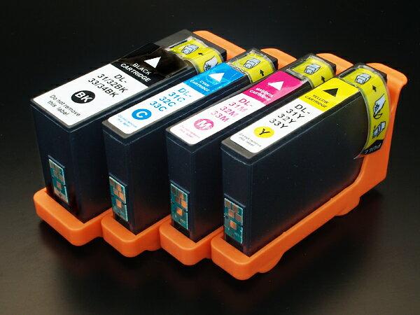 デル(DELL) 31・32・33・34(G732W-R0GC8-029Y8-D15XV)互換インクカートリッジ 4色セット Dell V525w V725w【送料無料】【あす楽対応】