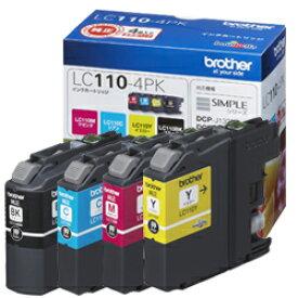 ブラザー工業(Brother) 純正インク LC110インクカートリッジ 4色セット LC110-4PK DCP-J152N DCP-J137N DCP-J132N