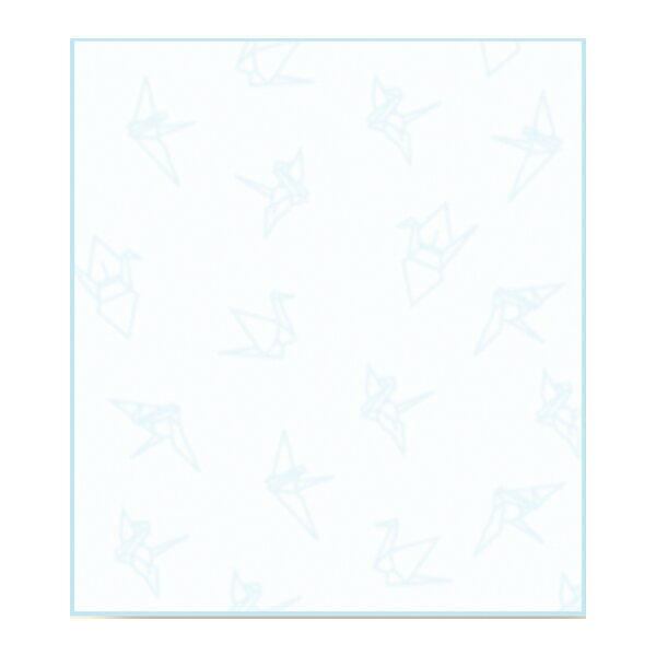 呉竹 Kuretake 越前和紙の色紙 あわいろ 折鶴 空 LA21-18