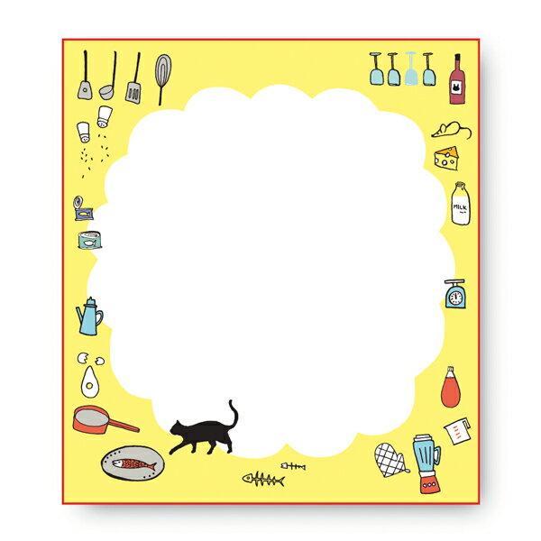 呉竹 Kuretake 色紙 ネコのいるキッチン LA21-23